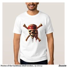 Pirates of the Caribbean skull torches Logo Disney