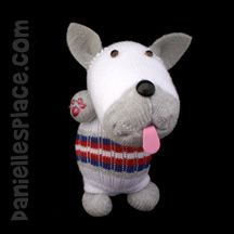 Sock Craft - No-sew Sock Dog Craft for Kids from www.daniellesplace.com