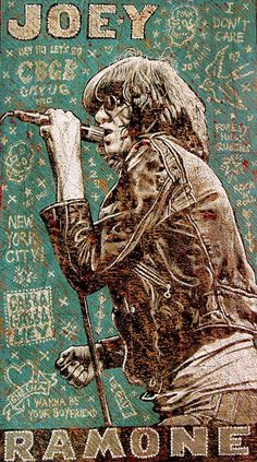 Jon Langford's Joey Ramone. Jon does great stuff but isn't cheap!