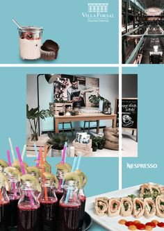 New flavour of Nespresso coffee - catering, food, decoration, interior design. Catering Food, Food Decoration, New Flavour, Warsaw, Nespresso, Conference, Gallery Wall, Coffee, Interior Design