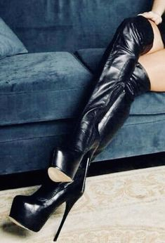 Thigh High Boots, High Heel Boots, Over The Knee Boots, Heeled Boots, Shoe Boots, Shoes Heels, Sexy High Heels, Beautiful High Heels, Platform High Heels