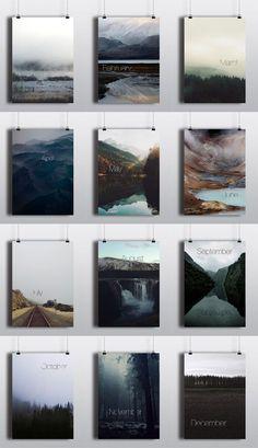 Perpetual Calendar / Kalender als Posterserie / Arina Pozdnyak