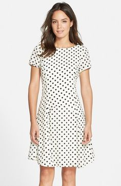 KUT from the Kloth Polka Dot Fit & Flare Dress available at #Nordstrom