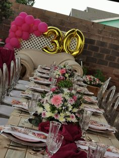 30th Birthday, Table Decorations, Floral, Life, Furniture, Home Decor, 30 Year Anniversary, Decoration Home, Room Decor