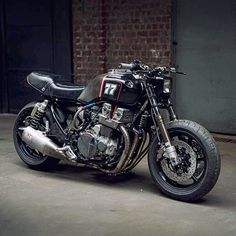 """bike-exif: """"Loving this brutal Honda CB750 by @antoinehotermans of McFly Custom in Belgium. With hot cams, custom pipes and a Yoshi muffler, we're betting it sounds as good as it looks. . That makes it one of our new Bikes Of The Week. Hit the link..."""