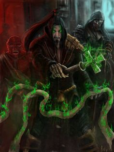 Templar Sorcerer Shang Tsung by LetticiaMaer on DeviantArt Mortal Kombat X Wallpapers, Dark Legends, Mileena, Vampire Art, Photoshop Cs5, Doctor Strange, Game Character, The Magicians, Martial Arts