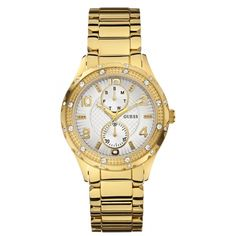 Guess Wristwatch Quartz Analog rivestito in Stainless Steel *** Click image for more details. Luxury Watches, Rolex Watches, Watches For Men, Guess Watches, Smartwatch, Stainless Steel Bracelet, Stainless Steel Case, Toned Women, Beautiful Watches