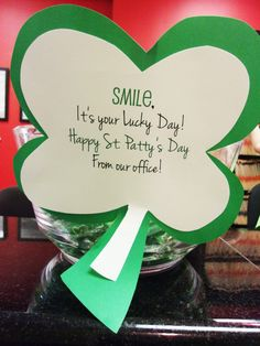 Giveaways for the patients! St. Patrick's Day 2016 Dr. Marc E. Goldenberg, Dr. Kate M. Pierce, and Dr. Matthew S. Applebaum Pediatric Dental Office Greensboro, NC