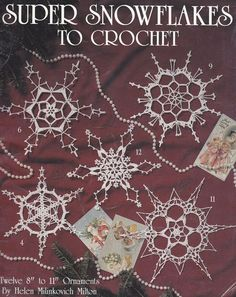 Snowflakes Crochet Patterns - 12 Large Snowflake Patterns