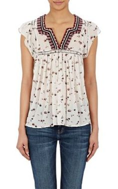Ulla Johnson Anosha Flutter-Sleeve Top at Barneys New York