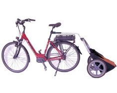 The perfect bike trailer for a quick runs to the grocery store. Convenient hooks let you easily hang your grocery bags. Lightweight and durable.