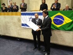 Cônsul de Israel é homenageado na Câmara Municipal