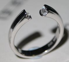 14k White Gold Ring in Round Diamonds by CrystalsJewelryD on Etsy, $550.00