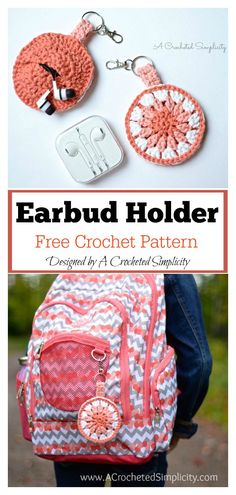 5 Earbud Pouch Free Crochet Pattern This Earbud Pouch Free Crochet Pattern is a quick and easy project for birthday party favors, stocking stuffers, craft fairs & more. Crochet Diy, Free Form Crochet, Crochet Pouch, Love Crochet, Crochet Hooks, Crochet Bags, Crochet Ideas, Quick Crochet Patterns, Knitting Patterns