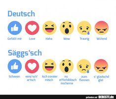 Deutsch / Säggs'sch | Lustige Bilder, Sprüche, Witze, echt lustig Haha, Humor, Emoticon, Funny, Life, Dresden, Humorous Sayings, Deutsch, Funny Jokes