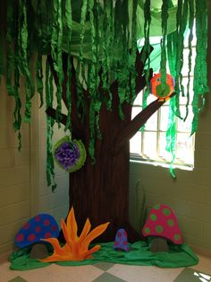 Journey off the Map VBS. Vbs Themes, Jungle Theme Decorations, School Decorations, Classroom Themes, Jungle Party, Swamp Party, Class Decoration, Camping Theme, School Projects