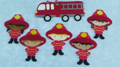 This Felt Five Brave Firefighters is made of high quality wool-blend felt. This sweet little set can be used by teachers or librarians, and even by children on my Travel Mat--which can be purchased separately here: https://www.etsy.com/listing/451467402/felt-travel-matflexible-felt-board?ref=shop_home_active_1 *This set is accompanied by the words to the Five Brave Firefighters rhyme. Simple instructions and suggestions for teachers,librarians, and parents are a...