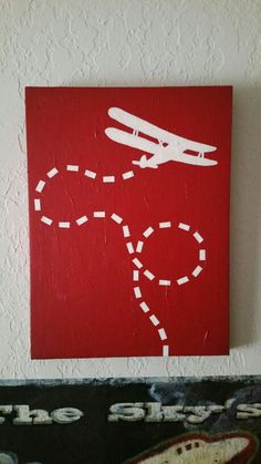 Wall Decor Canvas Biplane Painting