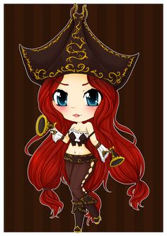 Miss Fortune Chibi - League of Legends by linkitty.deviantart.com on @deviantART