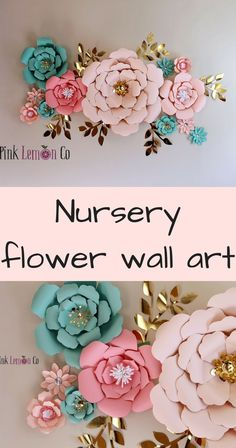 nursery name sign girl nursery wall art paper flowers baby shower decor nursery decor flower backdrop giant paper flowers nursery wall decal. Each flower is handmade using card stock paper.Each flower has adhesive tape on the back for easy placement.Simply peel the white backing off and place on wall. The set comes as individual flowers and leaves so you can arrange them however you like. #ad #flower #nurserydecor #wallart #homedecor #floral #craf