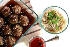 Teriyaki Meatballs - These are pretty easy and straightforward to put together, at least more so than a lot of meatballs. The sauce is sweet and great over rice. My husband went crazy for it. He's already requested to add it to the rotation!