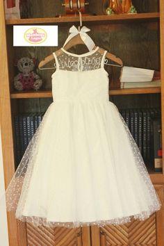 91e19388248 Polka Dots Tulle Flower Girl Dress by MonbebeLagos on Etsy