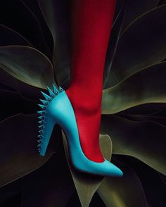 """""""I saw this little girl with a Mohawk, on a little girl, it was very sweet so I drew this shoe."""" - Christian Louboutin"""
