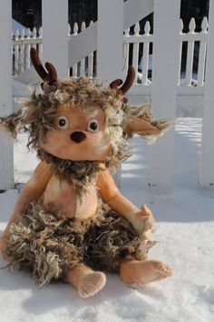 New for January 2014, Grizzle the Faun PDF, digital download Sewing Pattern, This guy is terrific!