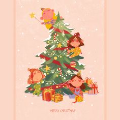 Merry Christmas on Behance New Year Illustration, Winter Illustration, Christmas Illustration, Cute Illustration, Christmas Mood, Merry Christmas, Xmas, Happy Birthday Greetings Friends, Christmas Characters