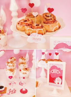Showered With Love: {Part 2: Brunch & Beverages} // Hostess with the Mostess®  Pink umbrella   Girl baby shower