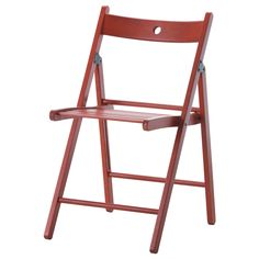 TERJE Folding chair - IKEA, in black or red, $17.99 -- beautiful. useful.