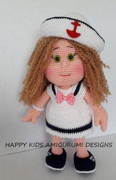 SAILOR GIRL-Amigurumi Crochet Pattern-PDF by BalimOrgu on Etsy