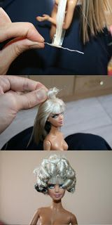 Fashionista Boy: Barbie OOAK - Burlesque Doll by Ever Olliver- tutorial covers hair, makeup, chothes etc! Old Barbie Dolls, Beautiful Barbie Dolls, Ooak Dolls, Barbie Clothes, Barbie Stuff, Doll Stuff, Barbie Hairstyle, Doll Wigs, Doll Tutorial