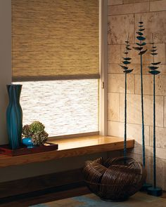 Alustra® Woven Textures® Dual Roller Shades halfway