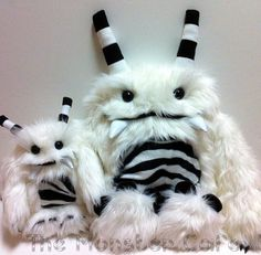 Mommy and Baby Yeti Pair White MTO by themonstercafe on Etsy, $125.00