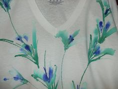 Hand Painted Tshirt by cwodesigns on Etsy, $27.95