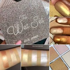 THE REVEAL Here is the reveal od @kyliecosmetics #Holiday2017 collection. Here are swatches of the Wet Set. This will have all nee highlighter shades. Collection Includes: 2 Eyeshadow palettes (Naughty & Nice) swatchws and pics in previous posts 2 lip bundles (Sugar & Spice) The Wet Set ( Sugar Coated, Frost bite, Sweet Dream & Gingerbread) 1 Lip kit No Peeking Ultra Glow Highlighter Collection will be launching 11/22 at 3PM PST/6PM EST on their Kylie Cosmetics website. ...