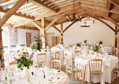 Pretty, simple wedding reception tables from Love My Dress