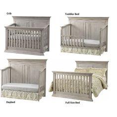 Baby Cache Vienna Lifetime Crib Ash Gray