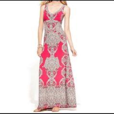 INC International Concepts Pink Maxi Dress Super soft petite small INC maxi dress. Beautiful vibrant color! Perfect condition! INC International Concepts Dresses Maxi