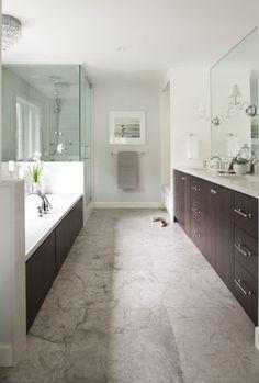 Master bathroom designed by Kelly Deck Design.