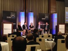 MetricStream GRC Summit 2013 at the Mandarin Oriental Hotel in Las Vegas - Panelists during the session 'Risk, Audit, Compliance, and Collaboration: What stakeholders expect'