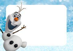 Convite, Moldura e Cartão Olaf Frozen