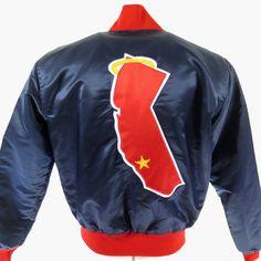 cc17ecda1514 Vintage 80s California Anaheim Angels Starter Jacket Mens L Satin MLB  Baseball