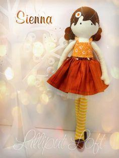 Sienna, from my 'inspired by Strawberry Shortcake' range of Pretty Poppet Dolls. © Lilliput Loft 2012