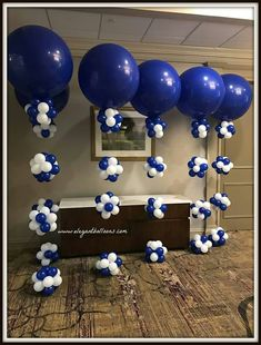 HRA colours Office Party Decorations, Birthday Balloon Decorations, Anniversary Decorations, Balloon Centerpieces, Birthday Balloons, Baby Shower Decorations, Event Decor, Qualatex Balloons, Blue Balloons