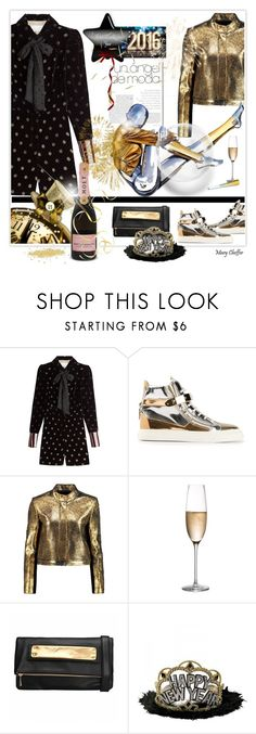 """The future is near - Happy New Year!"" by mcheffer ❤ liked on Polyvore featuring Maison Margiela, Giuseppe Zanotti, Raoul and Rogaska"