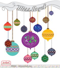 Christmas CLIPART Balls Geometric Decor Xmas by MissAngelClipArt, $4.99