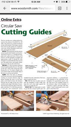 Circular saw guides