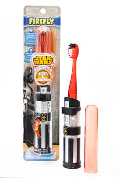 Firefly light-up Star Wars lightsaber toothbrushes get kids brushing better than you will!